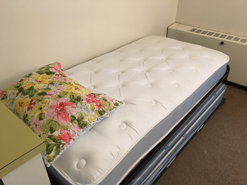 new mattress at Our Lady of Calvary