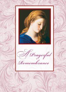 prayerful remembrance card